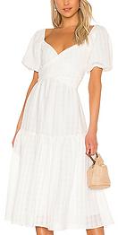 ASTR the Label Sonnet Dress white