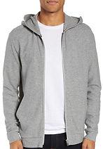 Essential Zip Hoodie THEORY grey