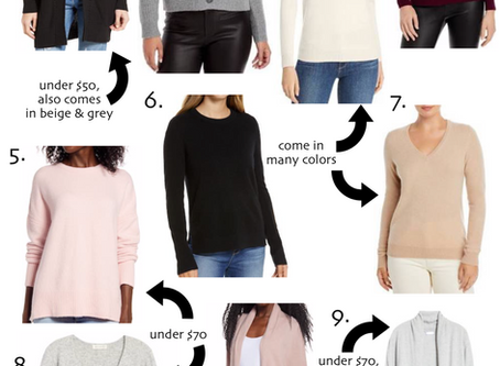 Sweaters: Splurge vs. Budget Friendly