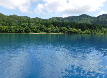 田沢湖SUP 入水
