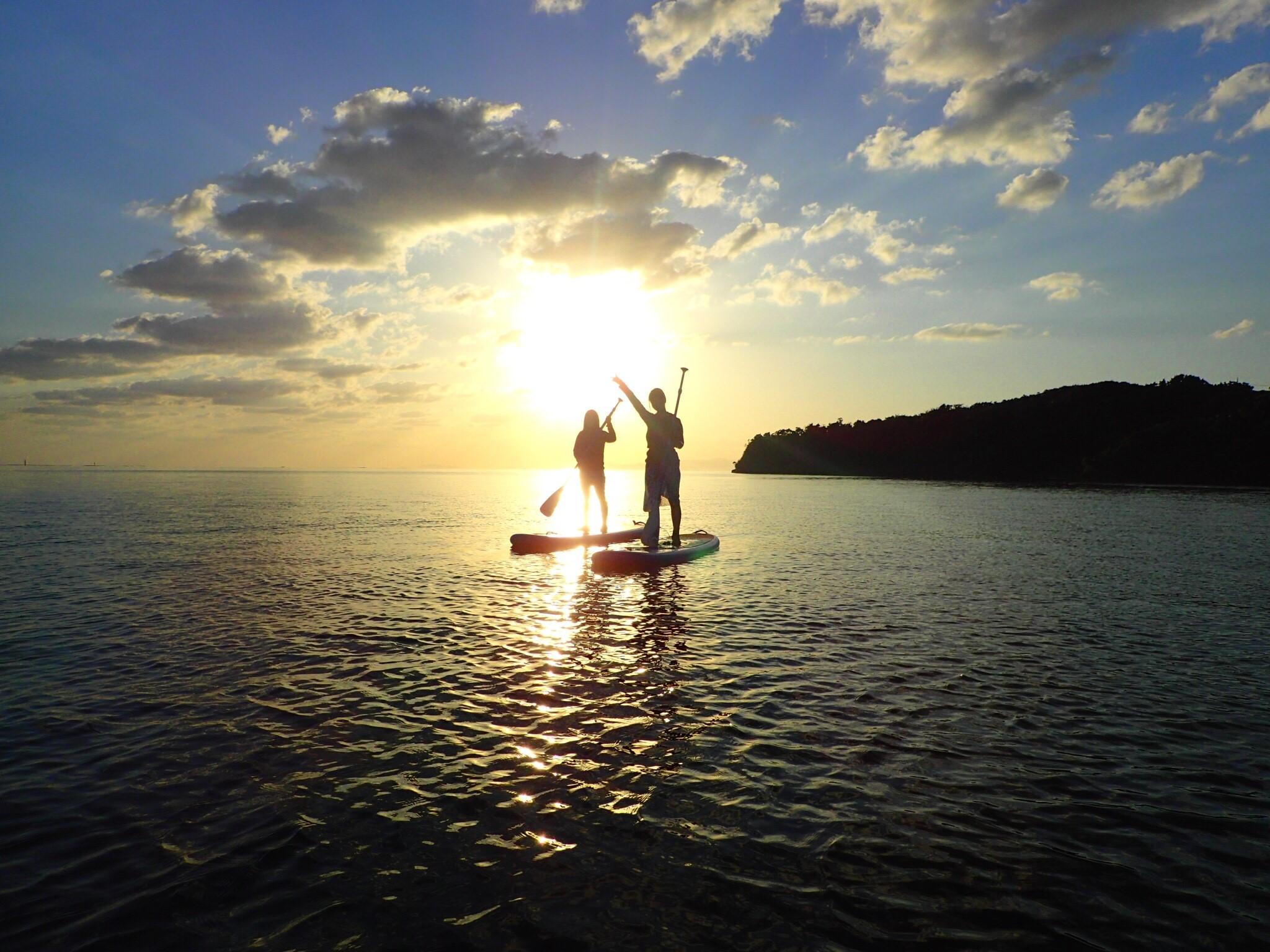 田沢湖サンセットSUPツアー