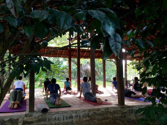 #yogashala #lavieestbelle #yoga #meditation #expressivearts #vietnam #retreat #nature #forest #yoganidra #classicalyoga #vegan #vegetarian #relax #spirituality #community #karmastay #karmaschool #karmayoga #naturequest #musique #lifestyle #volunteering #gardening