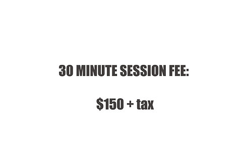 30 min Session Fee