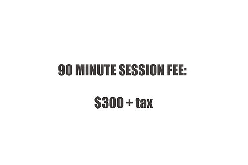 90 minute  Session Fee