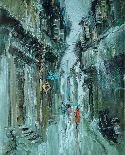 Alley in the rain #1