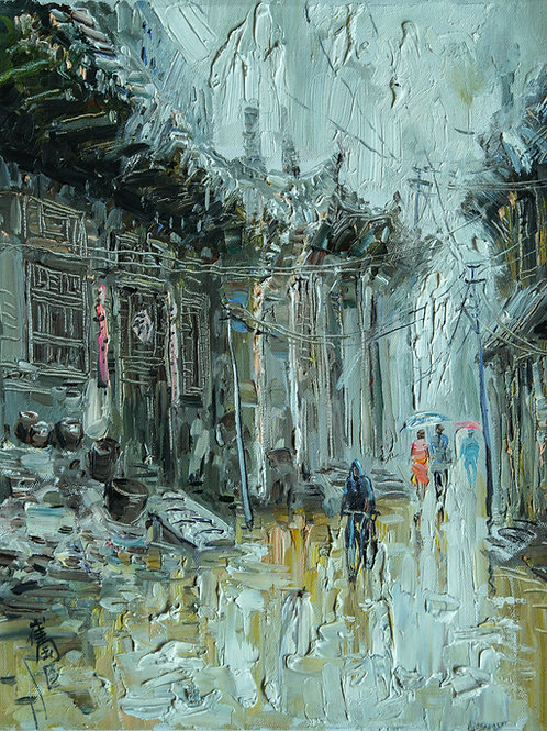 Alley in the Rain #2