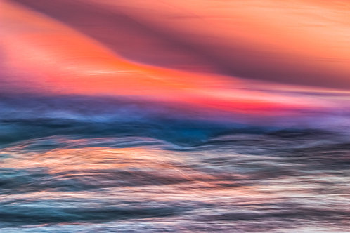 Pink Night on the Sea