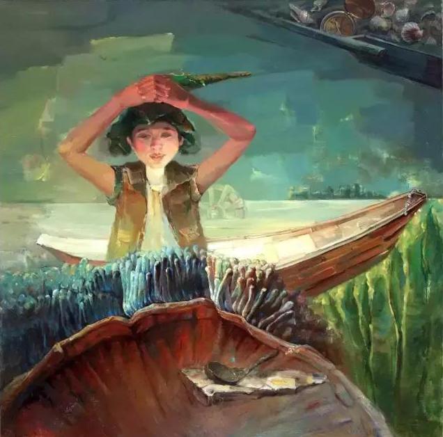 Boat of memory I, 100cmx100cm