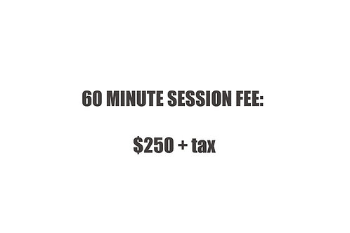 60 minute  Session Fee