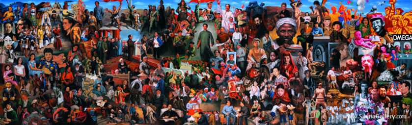 Hua Jiming, China Hundreds Year Art History, Oil on canvas 100cmX330cm Oil on canvas 2014