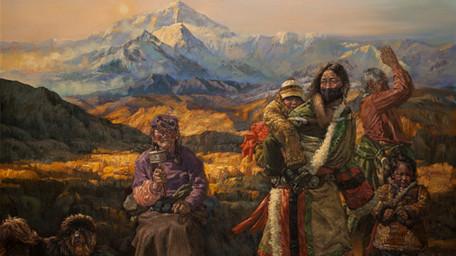 Oil painting by Hu, Maosheng