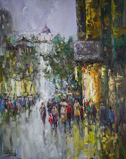 City in the Rain II
