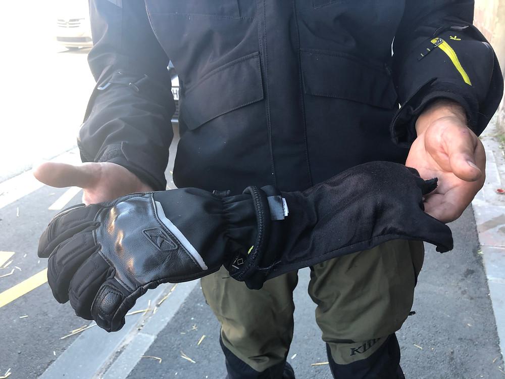 Klim Vanguards GTX long gloves gants essai review test BZK TRAILS