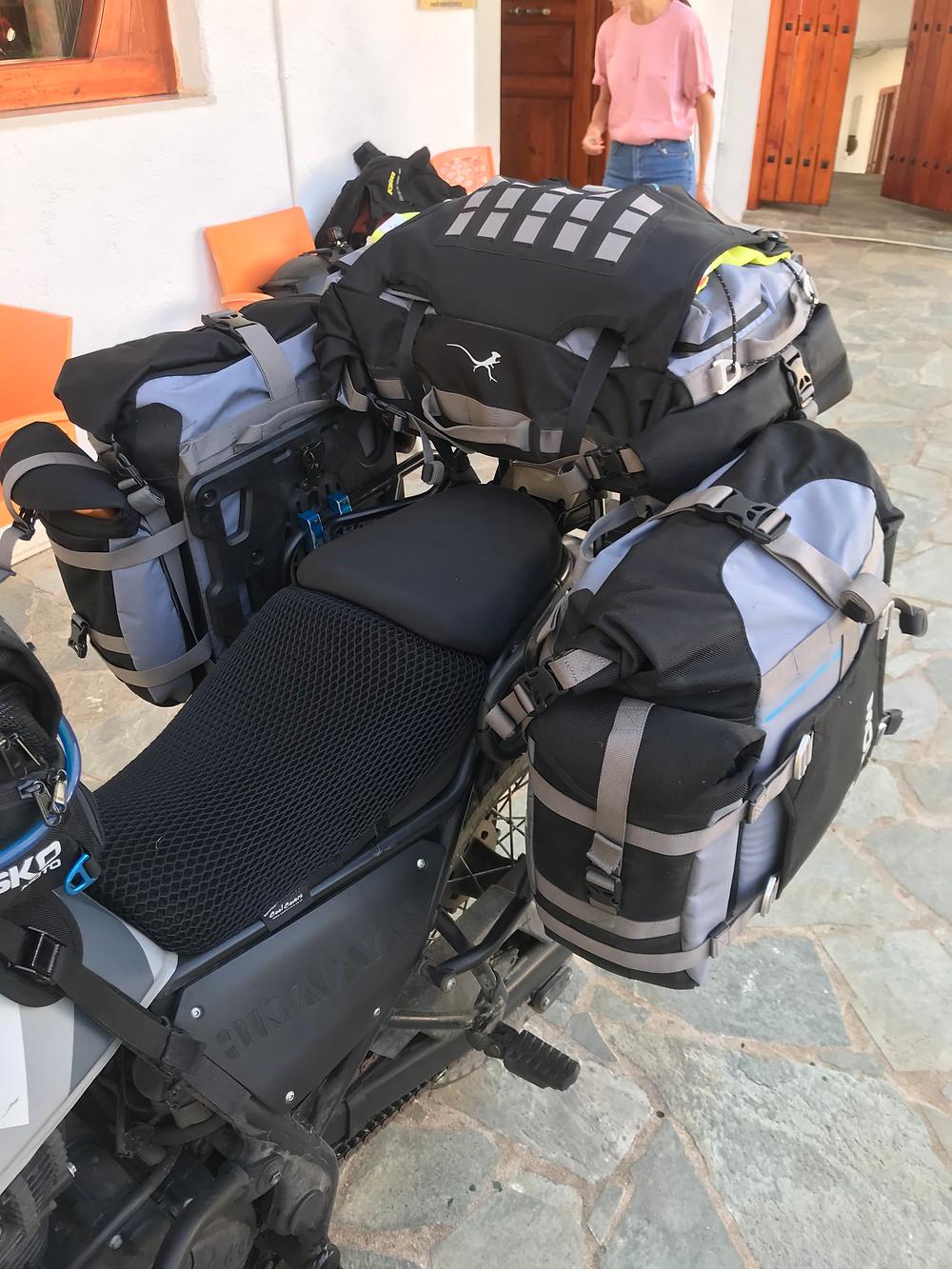 Mosko Moto backcountry side panniers Mosko Moto duffle bag review feedback test essai Bzk trails