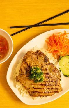 #33 - Grilled Pork Chop Rice Plate