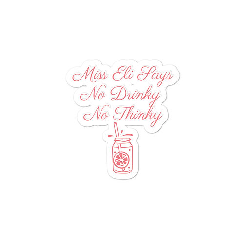 No Drinky Stickers