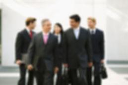 grupo de executivos em equipe