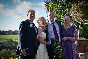 Bride and family formal wedding photography