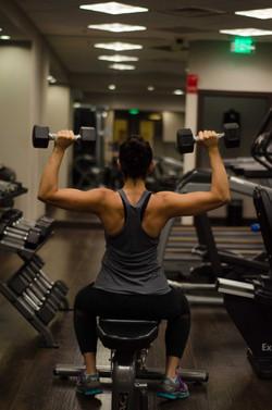 Shamila at the gym
