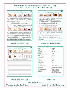 Food Items Read-Converse-Write Interacti