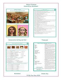 Subject Pronouns Conversation Worksheet
