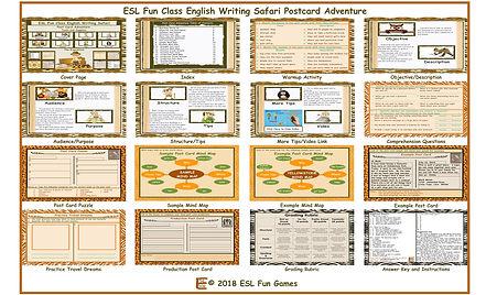English Writing Safari Postcard Adventur