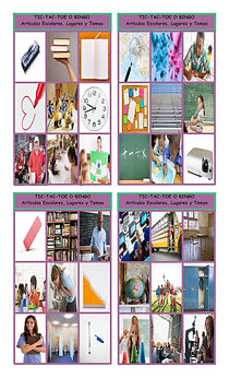 School Items, Places, and Subjects Spani