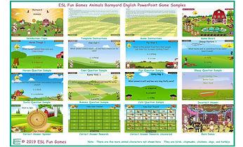 Animals Barnyard English PowerPoint Game