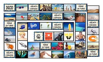 Beach Things and Activities Spanish Lega