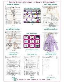 4 Worksheet 2 Game 1 Exam English Bundle