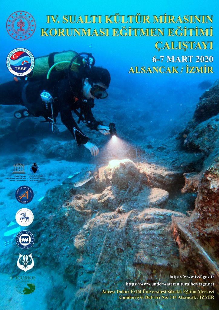 6-7 Mart 2020 İzmir Sualtı Kültür Mirasının Korunması Eğitmen Eğitimi Afişi