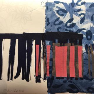 Detail of artist's preparatory work