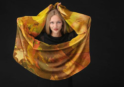 Autumn Leaves Long Scarf