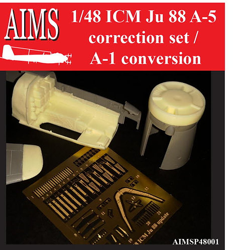 AIMS Resin 1/48 ICM Ju 88 A-5 Correction Set / A-1 Conversion