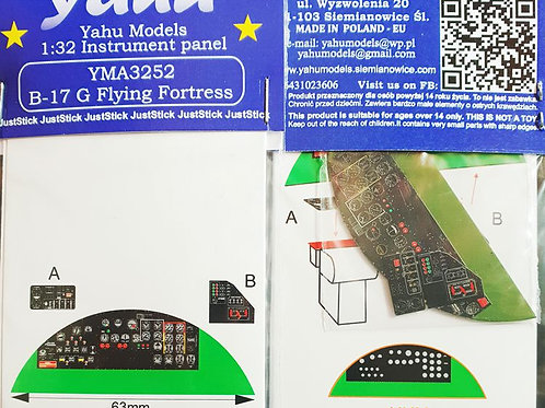 Yahu Models 1/32  B-17 G Flying Fortress Color Instrument Panel Upgrade