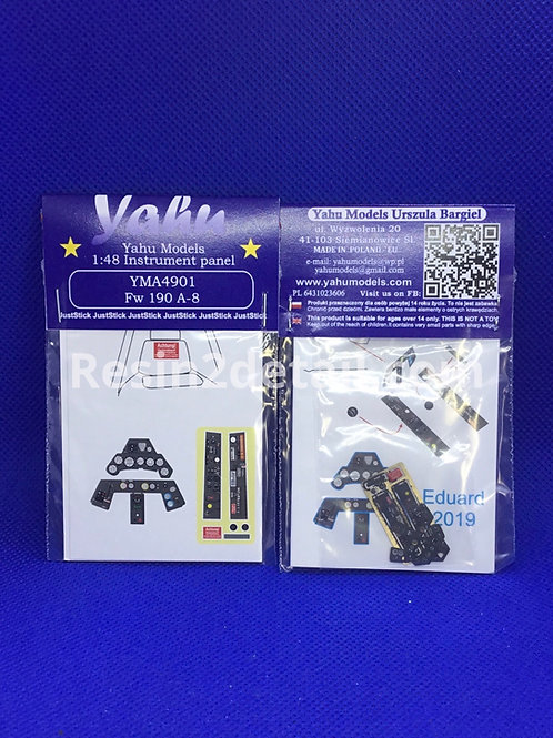 Yahu Models 1/48 FW-190 A8 Color Instrument Panel Upgrade