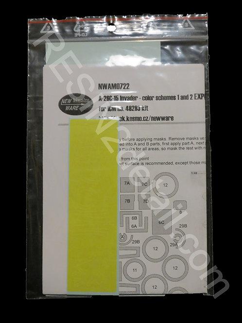 1/48 A-26C-15 Kabuki EXPERT Masks - 2 Schemes NEW Ware Masks NWAM0722
