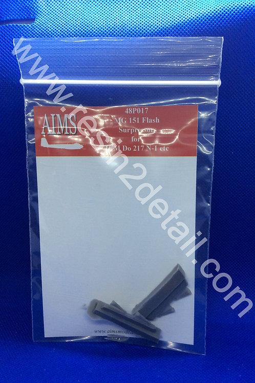 AIMS Resin 1/48 MG 151 Flash Supressors Do-217 N-1 (ICM)