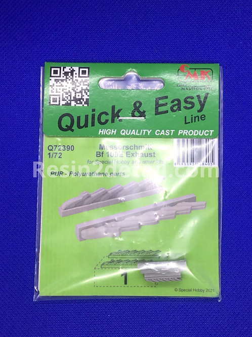 CMK Quick & Easy 1/72 Bf-109E Replacement Exhaust Q72390 (SH)
