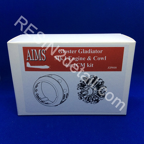 AIMS Resin 1/32 Gloster Gladiator Mk I Engine & Cowl for ICM Kit