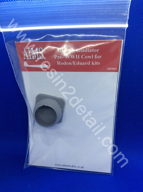 AIMS Resin 1/48 Gloster Gladiator Resin Cowling Upgrade/Replacement (Roden/EDU)