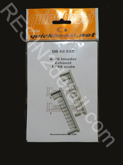 Quick Boost 1/48 A-26 Invader Exhaust Upgrade QB48952