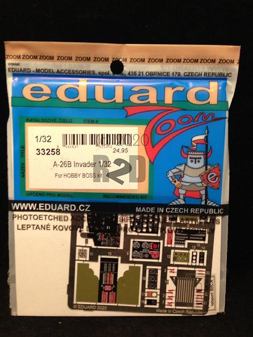 1/32 Eduard #33258 Color Photo-Etch A-26B Invader Cockpit Set