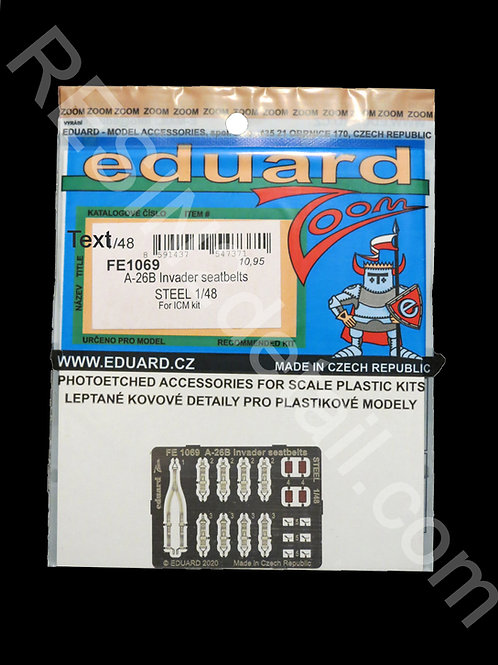 1/48 Eduard #FE1069 Photo-Etch A-26 Invader STEEL Painted Seatbelts Set