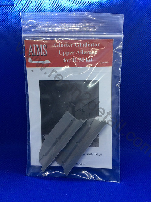 AIMS Resin 1/32 Gloster Gladiator Upper Aileron Upgrade (ICM)