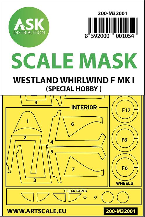 Artscale 1/32 Westland Whirlwind F MK.I Mask
