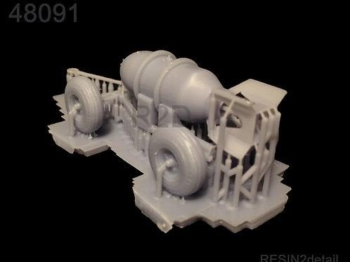 1/48 US Mk IIA Bomb Trolley w/ AN-M65 Resin Diorama Accessory