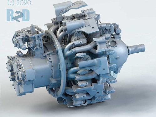 1/32 Super-detailed Pratt & Whitney R-2800 Engine Upgrade Kit