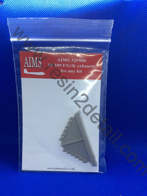 AIMS Resin Bf-109 F/G/K Resin Exhaust Replacement