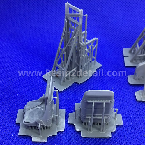 1/32 RESIN2detail Fast Fix B-17 Flying Fortress Seats with Belts
